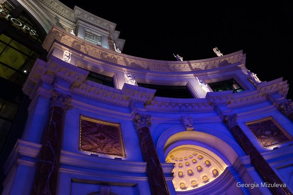 The Forum Shops Glamorous Entrance at Night by Georgia Mizuleva