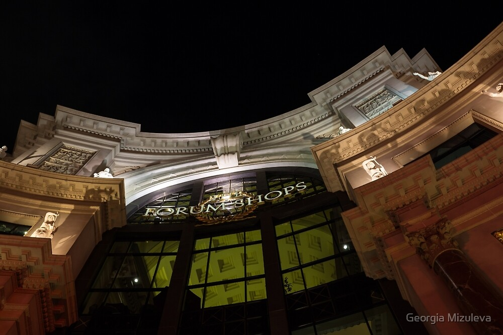 The Forum Shops at Night by Georgia Mizuleva