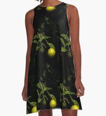 Lime A-Line Dress