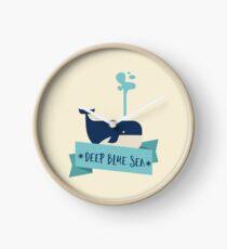 Deep Blue Sea Whale Clock