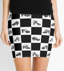 Fluevog BW Checker Pattern Mini Skirt