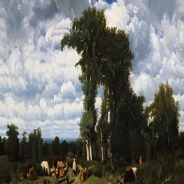 Landscape with Cattle at Limousin-Jules Dupre by LexBauer