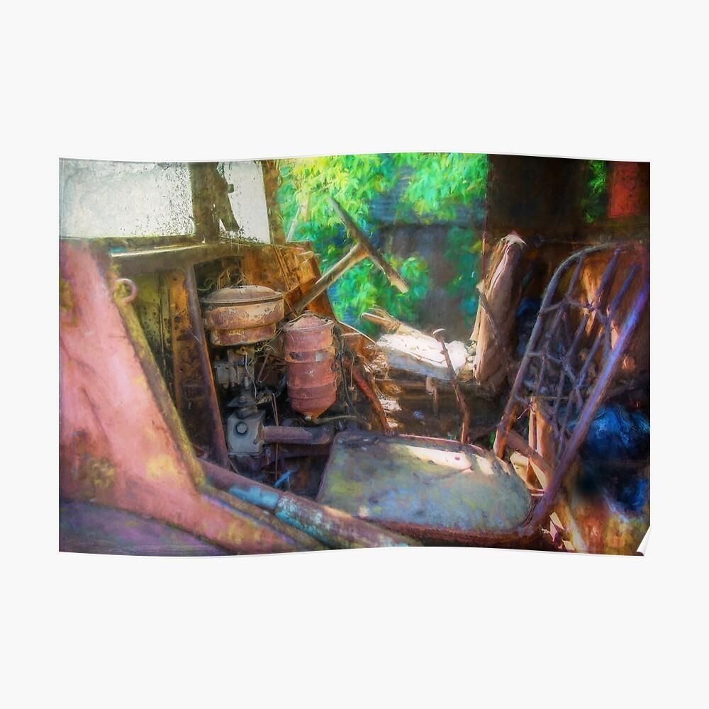 Rusty Truck Cabin Poster