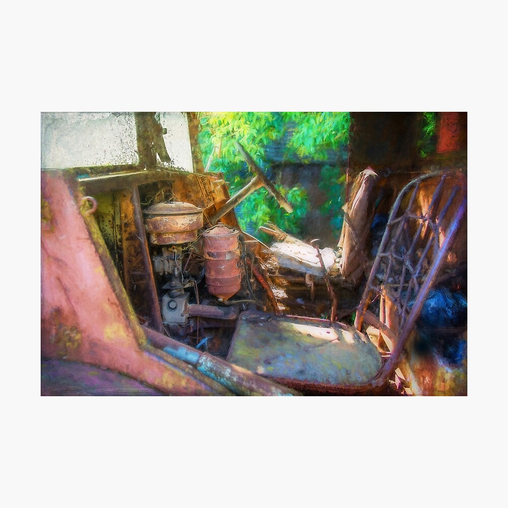 Rusty Truck Cabin Photographic Print