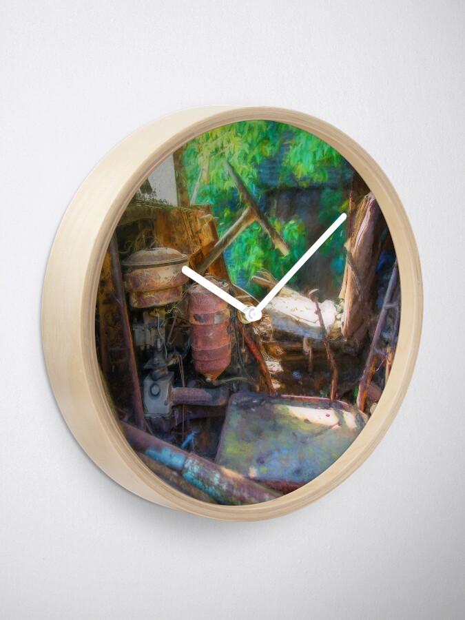Alternate view of Rusty Truck Cabin Clock
