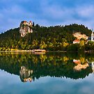 Reflections in Lake Bled, Slovenia by Yen Baet