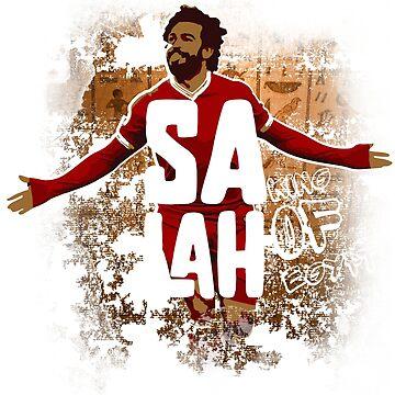 Mohamed Salah tshirt Design. Soccer futball tee with salah by georgetozas