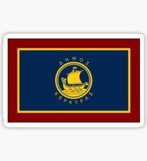 Flag of Corfu, Greece Sticker