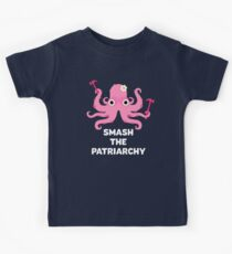 Fight Like A Girl: Smash The Patriarchy - Octopus Kids T-Shirt