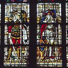 Saints George, Manrus, Mauritius, Gercon, Stained Glass 1509 Cathedral Koln Germany 19840902 0011  by Fred Mitchell
