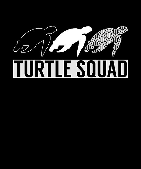 turtle squad | turtle shirt | turtle gifts | turtle clothes | turtle tee | turtle art | turtle t shirt | sea turtle shirt | turtle decor by Tejus Patel