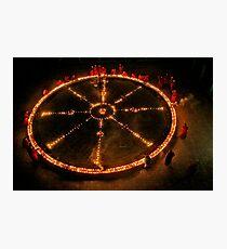 Dharma Wheel Puja Photographic Print