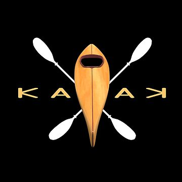 Kayak Lover Symmetrical Kayaking Design for Adventurers by spitzys