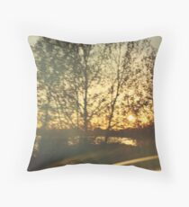 Moving Sunset Throw Pillow