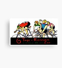 1914 Bicycle Race Canvas Print