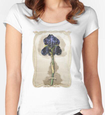 Night Iris Women's Fitted Scoop T-Shirt