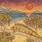 Iguana on the Beach by Fay Helfer