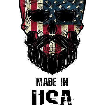 Made In USA - American Flag Skull by Mojito10