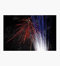 Night light sparkles a colourful delight Photographic Print