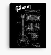 Guitar Gibson Les Paul Patent White Canvas Print