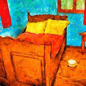 Remake of Van gogh's bedroom by Ariela-Alez