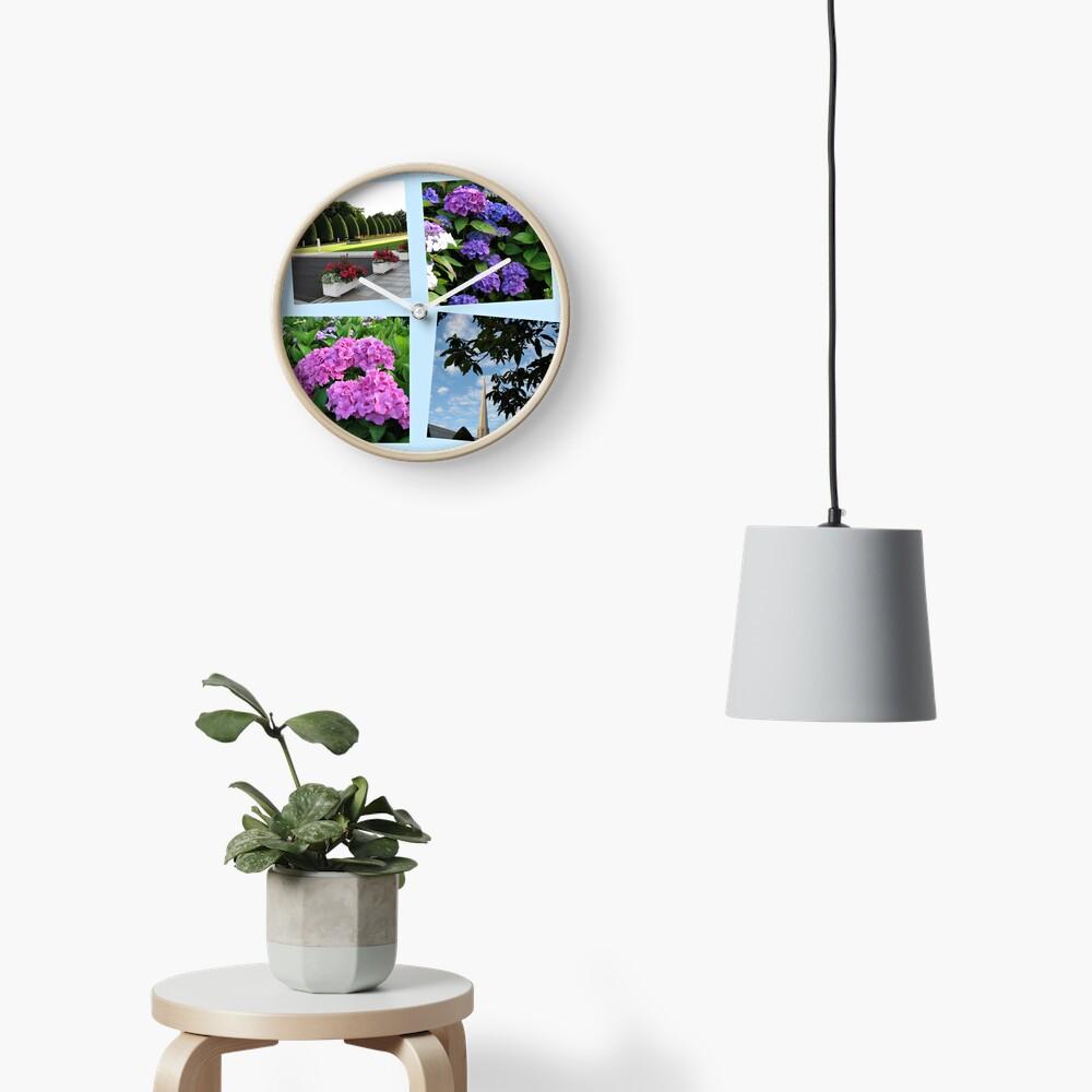 Hoher Sommer an der Preston-Tempel-Collage Uhr