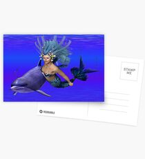 Princess of the oceans .. swimming with dolphins Postcards