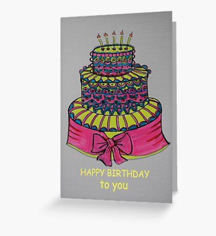 cake Greeting Card