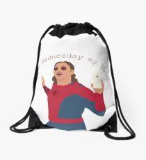 It's Wednesday My Dudes Drawstring Bag