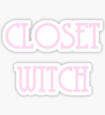 Closet Witch - Pink Sticker