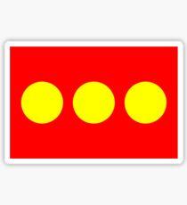 Flag of Freetown Christiania Sticker