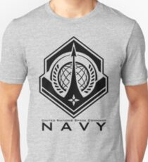 Halo | UNSC Navy Insignia With Words Unisex T-Shirt