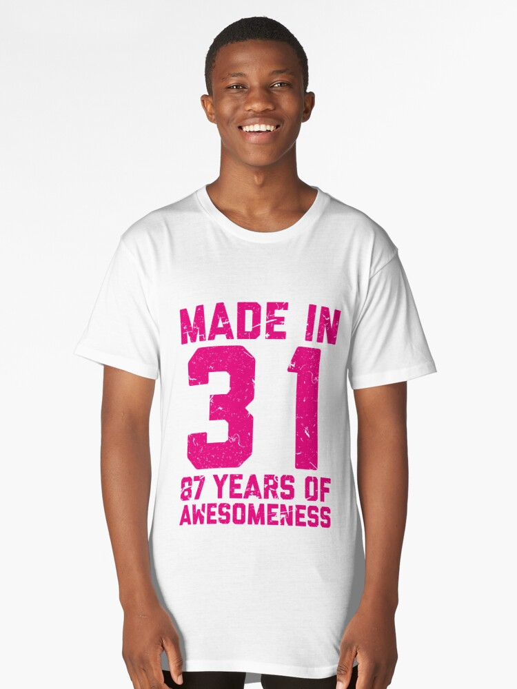 87th Birthday Gift Adult Age 87 Year Old Women Womens Long T Shirt Front