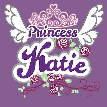 Princess Katie Personalized Name - Kids Princess Birthday Gift by heavyhebi