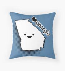 Nettes Georgia - glückliches Gesichts-Staat Emoji Dekokissen