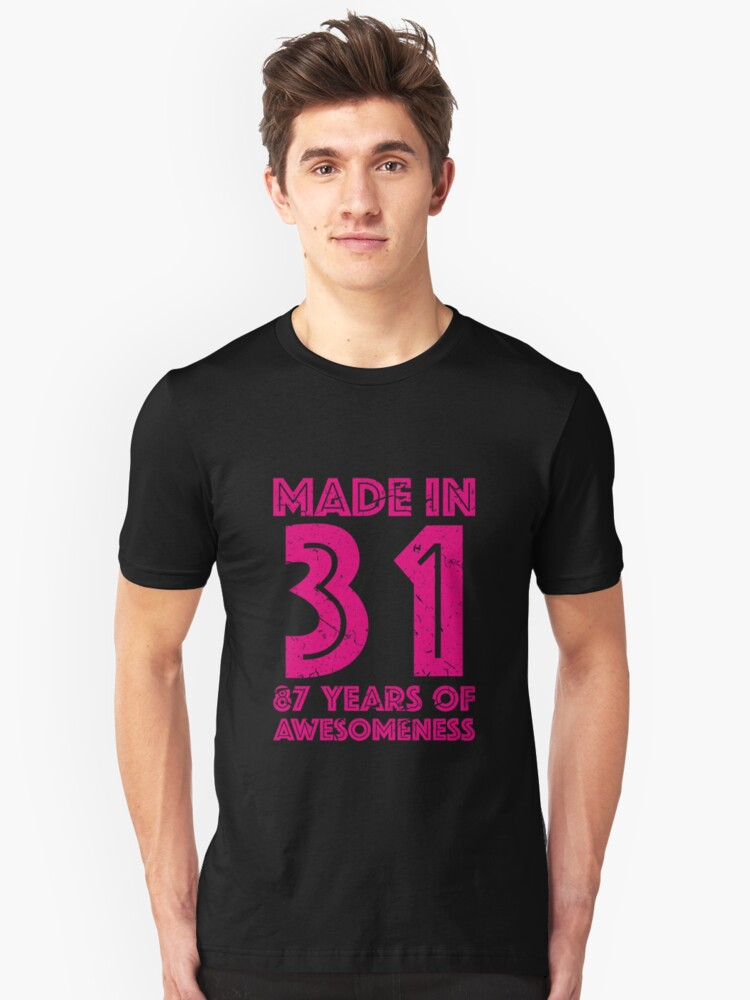 87th Birthday Gift Adult Age 87 Year Old Women Womens Unisex T Shirt Front