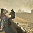 Havana - Relaxing at the Malecon by Kathleen Conklin