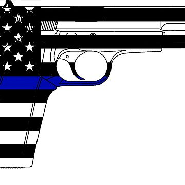 Thin Blue Line/Blue Lives Matter -USA Handgun by cstronner