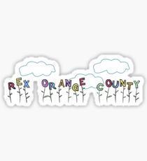 little garden of rex orange county flowers Sticker