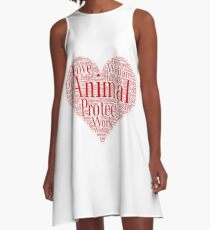 Animal Love and Protect A-Line Dress