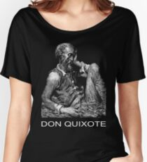 Don Quixote of La Mancha is placed in a cage  Women's Relaxed Fit T-Shirt