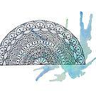 Aquarell Halbe Mandala von chailyn