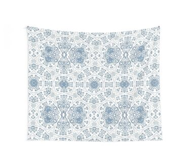 Blue lace mandala Wall Tapestry