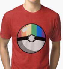 Gay Pride Poké Ball Tri-blend T-Shirt