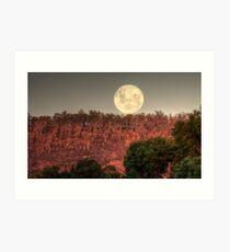Super Full Moon rising Art Print
