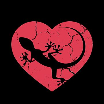 I Love Reptiles Gecko Lizard Design by spitzys