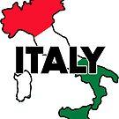 ITALY TRAVEL LUGGAGE STICKER by BYRON