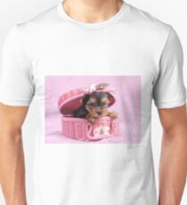 Pink yorkie Unisex T-Shirt