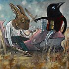 When Rabbit Meets Crow by greg orfanos