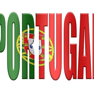 Portuguese flag word overlaid with. by stuwdamdorp